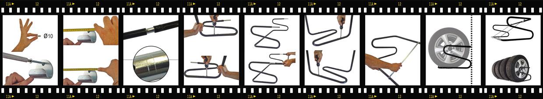 Sequenza montaggio porta gomme Orazio